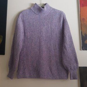 H&M thick knit mock neck sweater